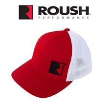 Roush Performance Embroidered R Logo Red & White Flexfit Mesh Hat Cap