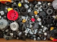 LEGO Bulk lot WHEELS 1/2 lb pound Tires Axles Car Vehicle Lots of Parts Pieces