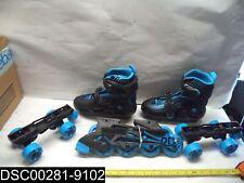 Qty=1 Pair: 2 in 1 Roller Derby Inline/Roller Adj. Skate Combo Size Medium (3-6)
