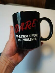 Vtg 1980s 90s DARE To Keep Kids Off Drugs Coffee Mug Cup Just Say No Education