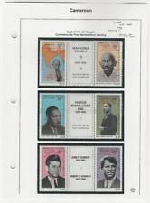 Cameroun, Postage Stamp, #C111-C116 Overprint Mint NH, 1969 Moon Landing