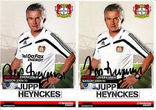 Jupp Heynckes 2x 09/10 Bayer Leverkusen Bayern Borussia Madrid DFB Deutschland
