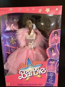 """Vintage 1988 AA SUPERSTAR BARBIE ⭐️""""AWARD WINNING MOVIE STAR"""" #1605 NIB ⭐️"""