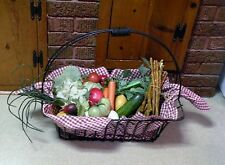 Large Black Iron Wire Basket / Vegetables - Country / Farm Décor / Store Display