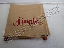 1 Pottery Barn Christmas Holiday Jingle Bell Sentiment Kitchen Hand Towel 20x30
