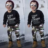 NEW Toddler Kids Baby Boys T-Shirt Top+Long Camouflage Pants Outfits Clothes Set