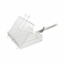 More details for fire mountain stainless steel adjustable barbecue grill basket