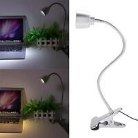 Flexible USB LED Light Clip-on Bed Table Desk Study Reading Lamp Eye Protection