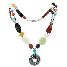 De Buman Natural Multi-gemstone Handcrafted Necklace