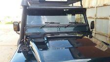 LAND ROVER DEFENDER ROOF PEAK  EXTERIOR SUN VISOR 90 110 130 black powder coated