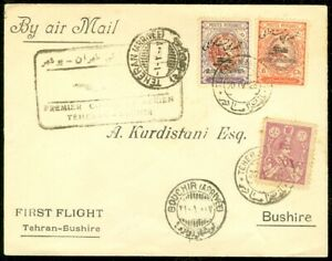EDW1949SELL : M. EAST Beautiful 1928 First Flight cover to Bushire