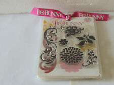 New Bo Bunny Rubber Stamp clear cling set Party You'Re Invited,Sunshine,Flowers