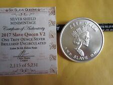 "2017 Silver Shield  ""Slave Queen V2"" Limited Silver BU with coa"