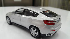 """New 5"""" Kinsmart BMW X6 SUV Diecast Model Toy Car 1:38- Silver"""