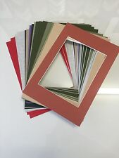 "6 x Professional Picture Framing Mat Boards 11"" x 14"" with 8"" x 10"" Photo Window"