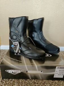 Weise WBLM Lock  Boot Waterproof Motorcycle Black EU 47 UK 13 US