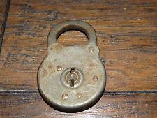 20301  Antique OBSOLETE Early SARGENT Six Lever Railroad Padlock / Vintage Lock