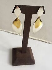 Gold Plated Brass Moving Shadows Earrings New Robert Lee Morris Sterling Silver
