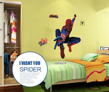 Spider-Man cartoon vinyl wall stickers for kids rooms boys girls home decoration