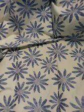 PARKERTEX tessuto stoffa scampolo lampasso floreale originale beige blu 130x110