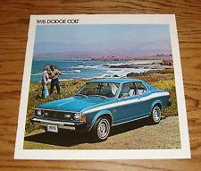 Original 1976 Dodge Colt Sales Brochure 76 GT Coupe Hardtop Sedan Wagon
