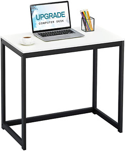 """Sinpaid Computer Desk 40"""" Study Writing Table for Home Office, Sturdy, Oak"""