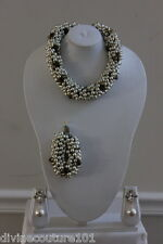 NEW ST.JOHN MULTI STRAND PEARL NECKLACE/BRACELET