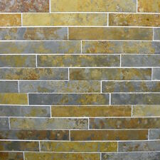 Rustic copper Slate wall cladding strips or flooring tiles - natural slate tile