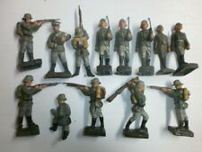 Konvolut 13 alte Lineol Massesoldaten Wehrmacht zu 6.5cm