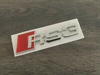 Audi RS3 Chrome Rear Boot Badge Emblem Trunk Logo A3 S3 Letter Silver UK STOCK