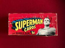 1965, SUPERMAN, Trading Card Display Box (Scarce / Vintage)