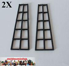 2x LEGO ® 6057 PIRATI NAVE-takelage 16x5 breve, ingrasso personaggi NERO BLACK
