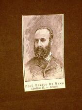 Deputato nel 1886 Onorevole Professore Enrico De Renzi di Ariano
