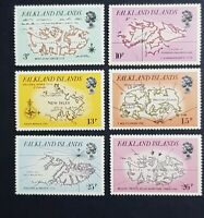 Falkland Islands: 1981 Early Maps; complete unmounted mint (MNH) set; SG396-401