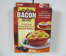 Perfect Bacon Bowl As Seen On TV Includes 2 Dishwasher Safe Bowls NEW