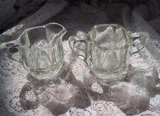Vintage Antique Lead Glass Crystal Creamer Sugar