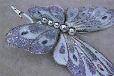 Butterfly Clip Wreath Decoration Craft Wedding Spring Wreath Floral Silver 026