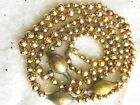 Vintage XMAS Tree GARLAND Gold Glass Antique Large Oblong & Varied Round Beads