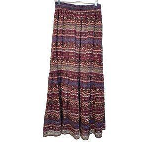 imaginary voyage Women's Size M boho long maxi crinkle skirt