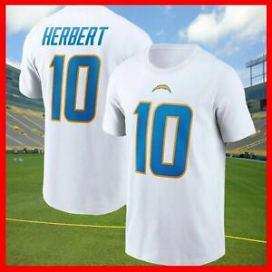 Justin Herbert #10 Los Angeles Chargers NFL 2021 Football T shirt Vintage Hot