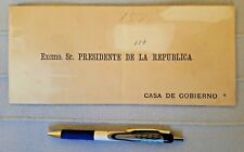PERU stampless cover hand delivered President of Republic Leguia autograph 1911