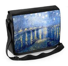 Vincent Van gogh nuit étoilée sur le Rhone river ordinateur portable sac messenger