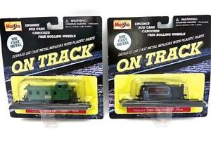 2 Maisto On Track Die-cast & Plastic Roaring Camp Tender & 128 Caboose NEW (366)