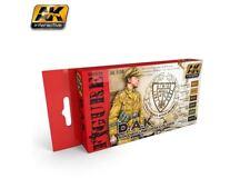 AK Interactive - D.A.K. Soldier Uniform Colors Set - 6 bottle acrylic paint set