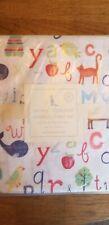 New in package Pottery barn animal alphabet toddler sheet set