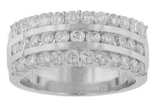 1.75 Ct. TW Round Diamond Triple Row Anniversary Band 18 kt F Color VS-2 Clarity
