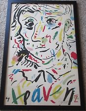 VINTAGE ABSTRACT PICASSO STYLE SIGNED MYSTERY ARTIST HEAVEN SERIGRAPH MODERNISM