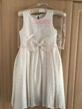 Baker by Ted Baker - 'Girls' ivory diamante embellished satin dress AGE 8 YEARS