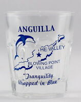 ANGUILLA, BWI VINTAGE MAP OUTLINE SHOT GLASS SHOTGLASS