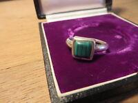 Schöner 925 Silber Ring Modern Designer Kubus Quadrat Machalit Vintage Retro